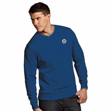 New York Mets Mens Executive Crew Sweater (Color: Blue)