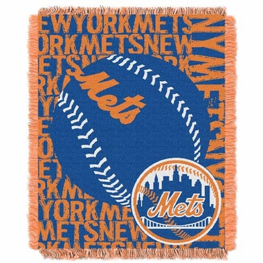 New York Mets Jacquard Woven Throw Blanket