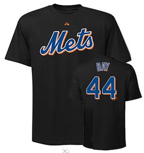 New York Mets Jason Bay Name and Number T-Shirt - Large
