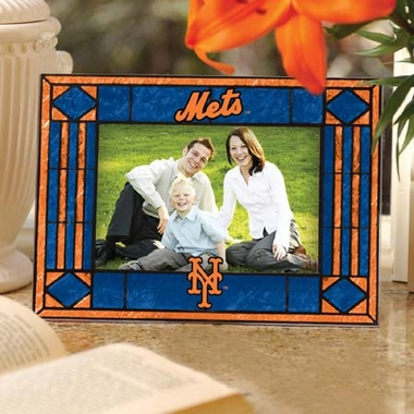 New York Mets Landscape Art Glass Picture Frame