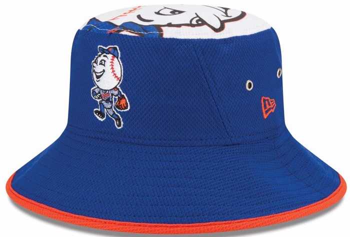 New York Mets New Era Logo Topper Performance Bucket Hat 9c644a308ef