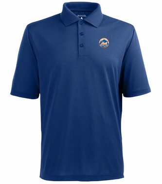 New York Mets Mens Pique Xtra Lite Polo Shirt (Color: Royal)
