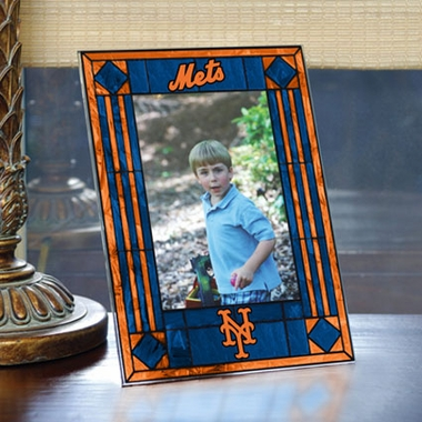 New York Mets Portrait Art Glass Picture Frame