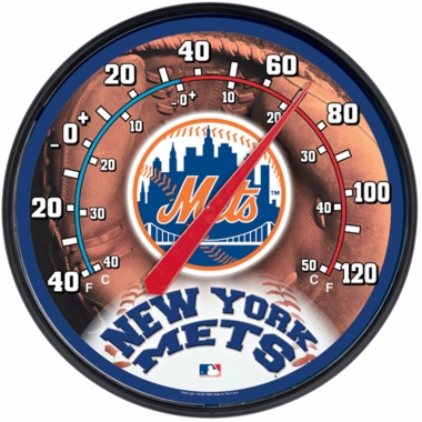New York Mets Round Wall Thermometer
