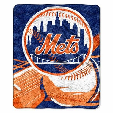 New York Mets Super-Soft Sherpa Blanket