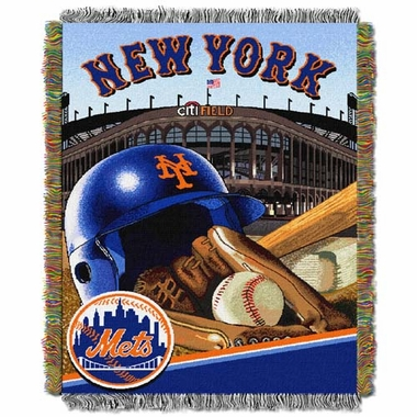New York Mets Woven Tapestry Blanket