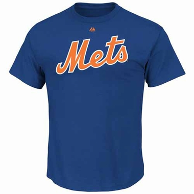 New York Mets YOUTH Official Wordmark T-Shirt - Blue