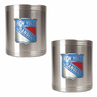 New York Rangers 2 Can Holder Set