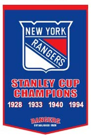 "New York Rangers 24""x36"" Dynasty Wool Banner"