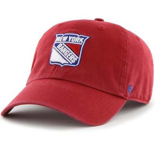 cf7e4920f16 New York Rangers 47 Brand NHL Clean Up Adjustable Hat - Red