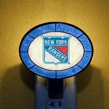 New York Rangers Art Glass Night Light