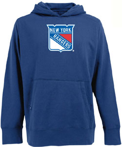 New York Rangers Big Logo Mens Signature Hooded Sweatshirt (Color: Royal) - XX-Large