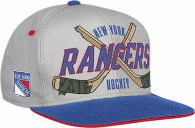 New York Rangers Cross Sticks Snap back Hat