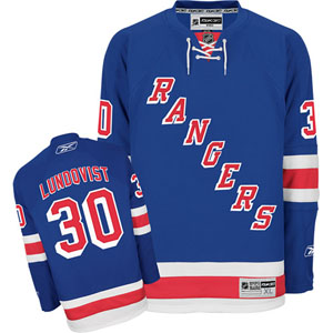 New York Rangers Henrik Lundqvist Reebok Team Color Premier Jersey - Large