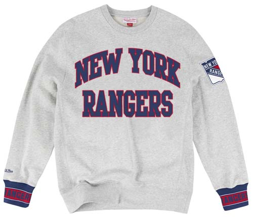 New York Rangers Mitchell   Ness Team Celebration Crew Sweatshirt 426f16508a3