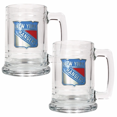New York Rangers Set of 2 15 oz. Tankards