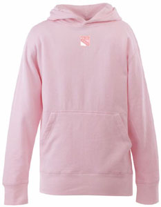 New York Rangers YOUTH Girls Signature Hooded Sweatshirt (Color: Pink) - Large
