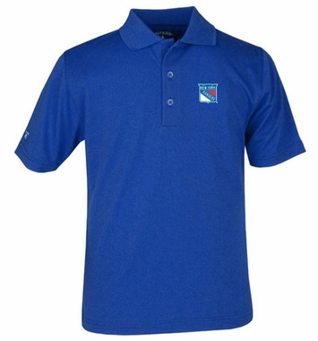 New York Rangers YOUTH Unisex Pique Polo Shirt (Color: Royal)