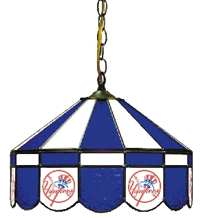 New York Yankees 16 Inch Diameter Stained Glass Pub Light