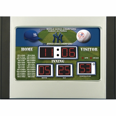 New York Yankees Alarm Clock Desk Scoreboard
