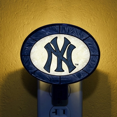 New York Yankees Art Glass Night Light