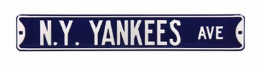 New York Yankees Ave Street Sign