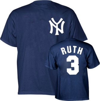 New York Yankees Babe Ruth Name and Number T-Shirt