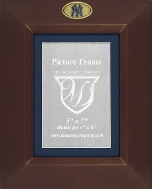 New York Yankees BROWN Portrait Picture Frame