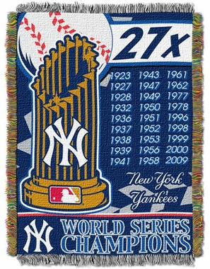New York Yankees Commerative Jacquard Woven Blanket