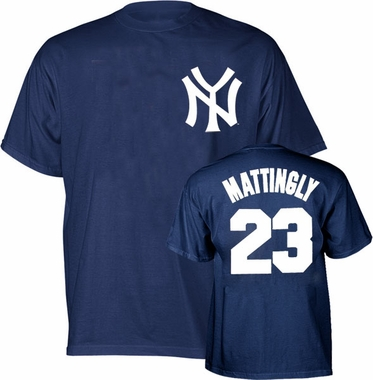 New York Yankees Don Mattingly Name and Number T-Shirt