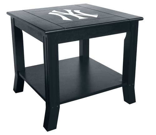New york yankees end table for Table new york