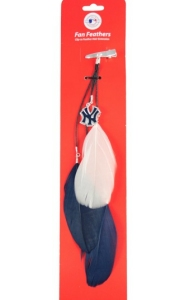 New York Yankees Team Color Feather Hair Clip