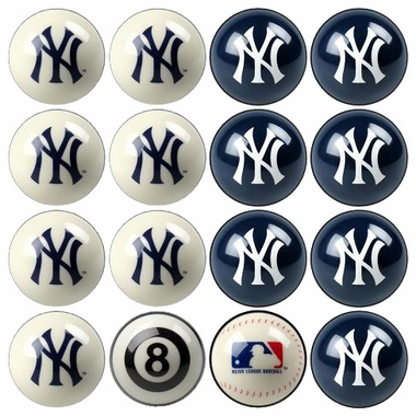 New York Yankees Home and Away Complete Billiard Ball Set