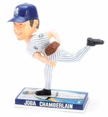 New York Yankees Joba Chamberlain 2009 Photo Base Bobblehead Figure