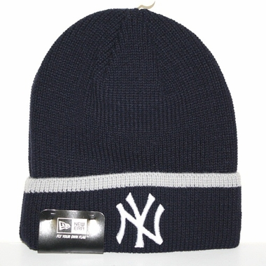 New York Yankees New Era Pop Cuff Knit Cuffed Knit Hat