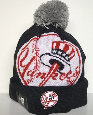 New York Yankees New Era Woven Biggie Cuffed Knit Hat