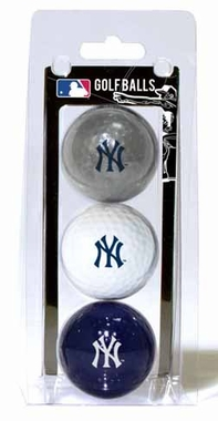 New York Yankees Set of 3 Multicolor Golf Balls