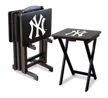 New York Yankees Set of 4 Folding TV Trays