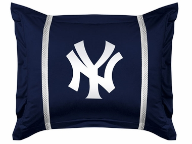 New York Yankees SIDELINES Jersey Material Pillow Sham
