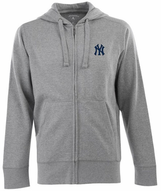 New York Yankees Mens Signature Full Zip Hooded Sweatshirt (Color: Gray)