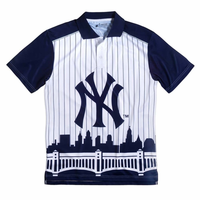 New York Yankees Thematic Skyline Mens Polo Shirt 9d106b71c1d