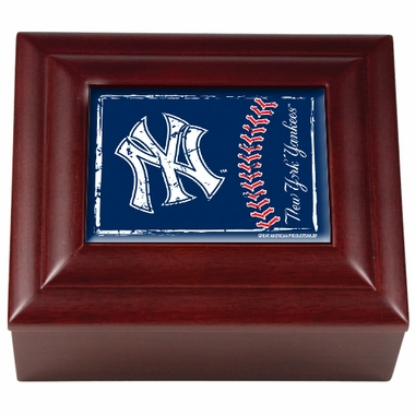 New York Yankees Wooden Keepsake Box