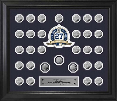 New York Yankees New York Yankees World Series 30 Coin Collection Frame