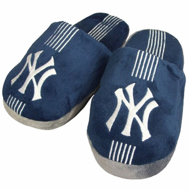 New York Yankees YOUTH Team Stripe Slide Slippers