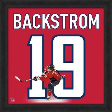 "Nicklas Backstrom, Capitals UNIFRAME 20"" x 20"""