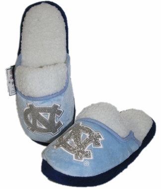 North Carolina 2012 Womens Team Color Sherpa Glitter Slippers