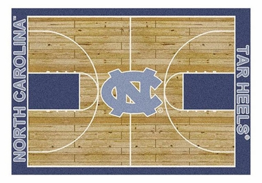 "North Carolina 5'4"" x 7'8"" Premium Court Rug"