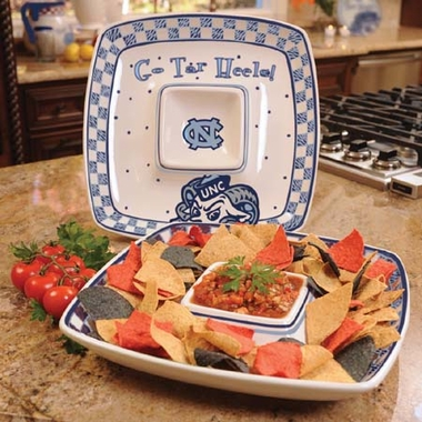 North Carolina Gameday Ceramic Chip and Dip Platter