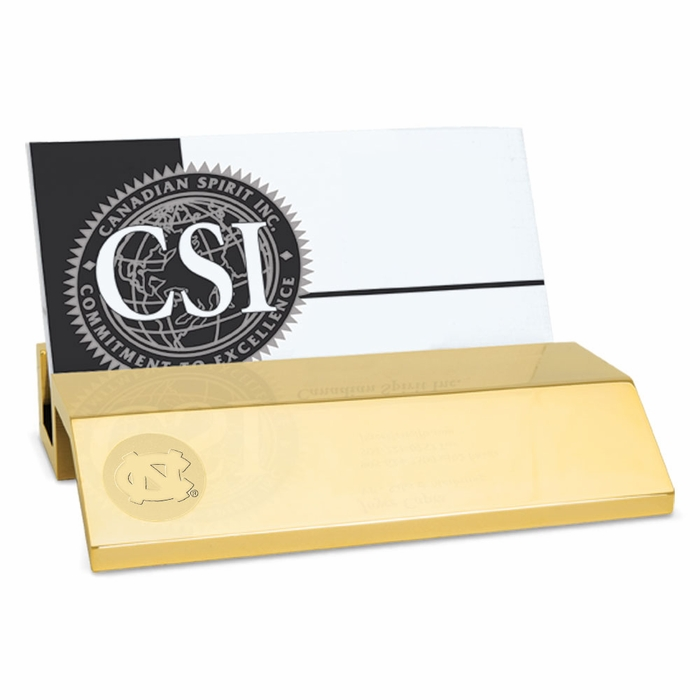 Carolina Gold Business Card Holder