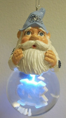 North Carolina Light Up Gnome Snow Globe Ornament